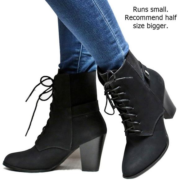 Chunky Heel Ankle Boots Booties | Poshmark